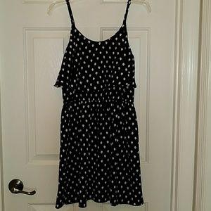 Black and white polka dot spring dress
